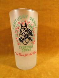 Vintage 1953 Kentucky Derby Churchhill Downs Glass Tumbler/cup, Grn/red/blk