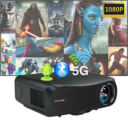 8500lms Led Android Projector Hd 5g Wifi Blue-tooth Native 1080p Hdmi 4k Video