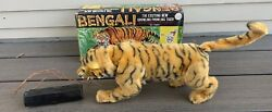 Vtg 1960s Marx Bengali Tiger Battery Operated Toy W/ Box Remote Control