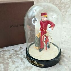 Louis Vuitton Glass Snow Globe Dome Hotel Page Boy New In Box Limited 2012 Model
