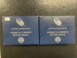 2016 Sandw Proof American Silver Liberty Medals/coa Less Than 12200 Minted Each