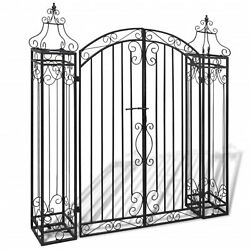 Vidaxl Ornamental Garden Gate Wrought Iron 4and039x8x4and039 5