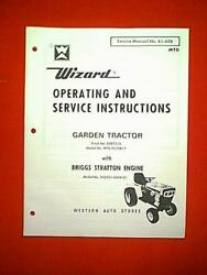 Wizard Mtd Garden Tractor Model Mtd 7510a17 Ownerand039s With Parts Manual