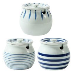 3pcs Ceramic Jars Spices Canisters Seasoning Boxes For Home Hotel