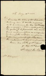 Andrew Jackson - Autograph Letter Signed 01/19/1824