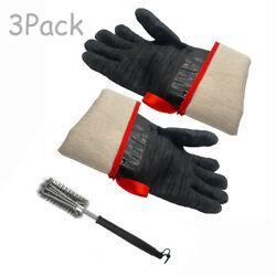Bbq Grill Kit Gloves Cleaning Brush Outdoor Camp Barbecue Cooking Cleaner Tool