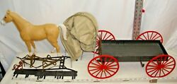 Marx Johnny West Buckboard Wagon With Horse And Tack