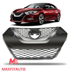 Fits Nissan Maxima 2016-2018 Front Upper Grille Chrome Factory