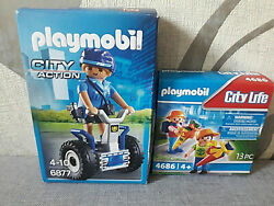 Playmobil City Life 4686 First School +6877 Police With - New