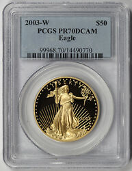 2003-w American Gold Eagle 50 One-ounce 1 Oz Proof Pr 70 Dcam Pcgs