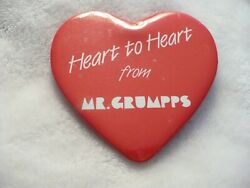 Rz- Heart To Heart From Mr Grumpps Pin Badge 36427
