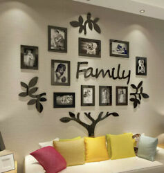 Family Tree Picture Frame Collage3D Stickers with Photo Wall Mural Living Room