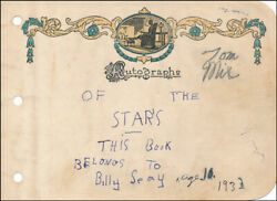 Tom Mix - Autograph 1932 Co-signed By Billy Seay