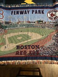 """Boston Red Sox Fenway Park Tapestry/throw Blanket 48""""x 60""""man Cave Wall Decor"""