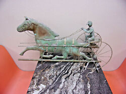 Antique Sulky Racer Weathervane Topper