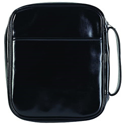 Black Leatherette Bible Cover Case With Handle, Maxi 2x-large