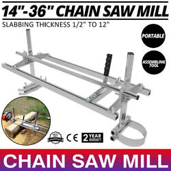 Portable Chain Saw Mill 14-36in Wood Timber Carpenter Lumber Cutting Machine Us