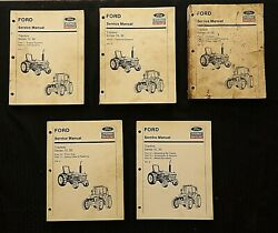 Ford 2600 3600 4100 4600 5600 6600 6700 7600 7700 Tractor Service Manual Set