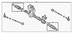 Genuine Ford Rack And Pinion Assembly Eg1z-3504-h