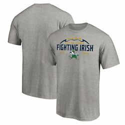 Notre Dame Fighting Irish Fanatics Branded Stacked Laces T Shirt Heathered