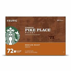 Starbucks Pike Place Keurig K-cup Brewers Single Capsules 72 Count {a,b Condit