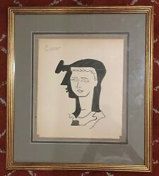 Modern painting on paper signed Picasso and dated 25.