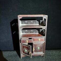 8.3 Curio Cabinet Small Carved Wooden Home Decore Vintage Wooden Cabinets Box