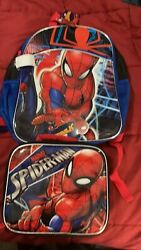 Spiderrman Marvel Kids School Backpack And Matching Lunch Box $42.00