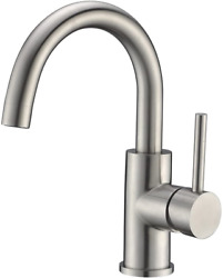 Bar Sink Faucet Stainless Steel Farmhouse Bathroom Lavatory Mixer Small Kitchen