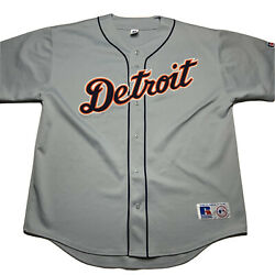 Vintage Russell Athletic Detroit Tigers Stitched Baseball Jersey Size 2xl Blank