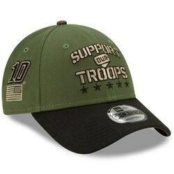 Aric Almirola New Era 9forty Support Our Troops Adjustable Hat - Green/black