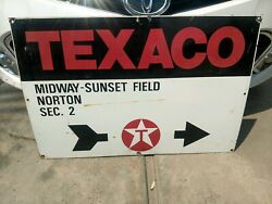 Vintage Double Sided Texaco Oil Lease Porcelain Sign 24andrdquox 36andrdquo Gas And Oil