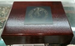 1993 Veracruz Mexico Gold And Silver Proof Set With Chest In Great Condition