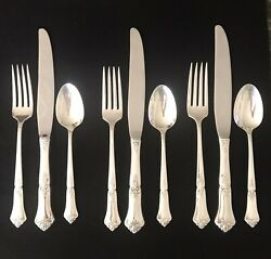 Vintage Sterling Silver Flatware. State House-stately. 9 Peices