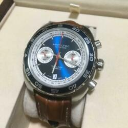 Used Hamilton Pan Euro 1971 Limited Edition Men's Watch With Box Belt F/s 814/co