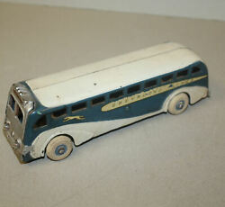 Antique Cast Iron Greyhound Lines Toy Bus With Light Bulb Lights – Arcade
