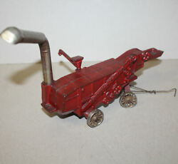 Antique Arcade Toy Cast Iron Mccormick Deering Thresher – Red Color