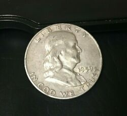 1959-d Franklin Half Dollar 90 Silver Content 1959 D Inv371 Nice Coin Toned