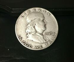 1949-s Franklin Half Dollar 90 Silver Content 1949 S Inv365 Low Mintage