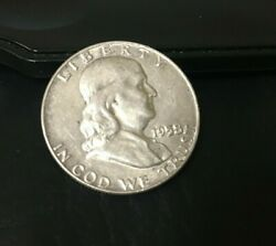 1958-d Franklin Half Dollar 90 Silver Content 1958 D Inv361 Very Nice Coin
