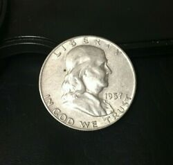 1957-d Franklin Half Dollar 90 Silver Content 1957 D Inv370 Very Nice Coin