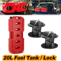 20l Can Backup Tank Fuel Gas Gasoline Container 5gal / Lock Suv Atv Truck Car
