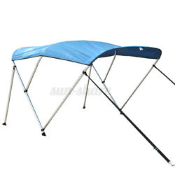 Boat Bimini Top 3 Bow Canopy Cover 54 - 90 W 6 Ft W Rear Poles And Storage Boot