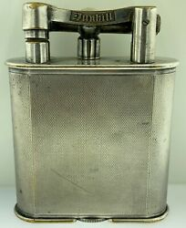 Vintage Dunhill X-large Lift Arm Table Lighter Silver Plate Made In England As I