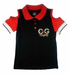 Coogi Girls Off Shoulder Polo Top Size 5 6 $43 $11.89