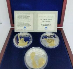 2013 125 Years Of Liberty 3 Coin Commemorative Set With Coa From American Mint