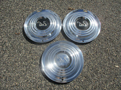Genuine Factory 1956 Desoto Firedome Fireflite Wheel Covers Hubcaps