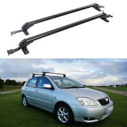 For Toyota Corolla Black Roof Rack Cross Bar Luggage Bicycle Carrier Aluminum