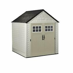 Rubbermaid Outdoor Storage Shed 7x7 Feet Resin Weather Resistant Outdoor Garde