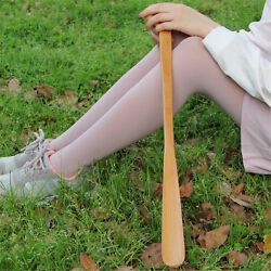 9styles Delicate Natural Wooden Craft Shoe Horn Long Handle Shoe Lifter B Cw